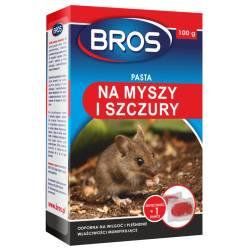 Bros 100g Pasta na myszy i szczury odporna na wilgoć i pleśnienie