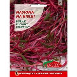 Torsed 10g Burak liściowy czerwony nasiona na kiełki