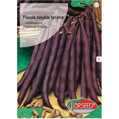 Torseed 10g Fasola Zwykła Tyczna Blauhilde Szparagowa Fioletowa Nasiona