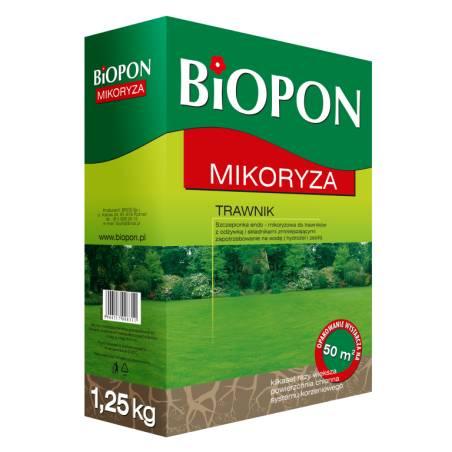 Biopon 1,25kg Mikoryza do trawnika szczepionka z hydrożelem i zeolitem