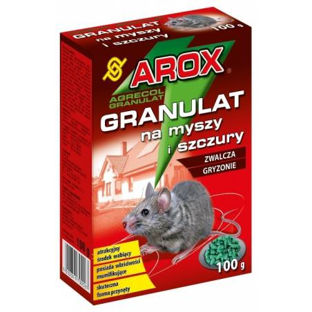 Arox 100g Granulat na myszy i szczury skuteczna trutka na gryzonie