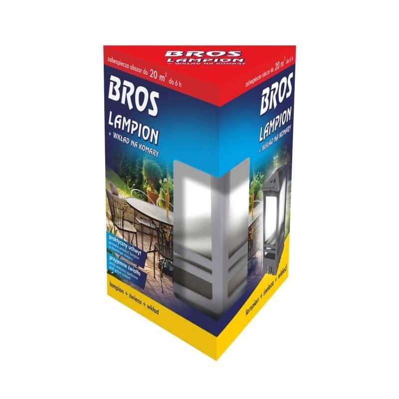 Bros Lampion + wkład na komary + świeca z praktycznym uchwytem