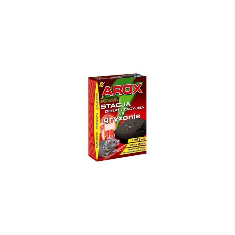 Arox Stacja deratyzacyjna na gryzonie + 100g pasty w saszetkach