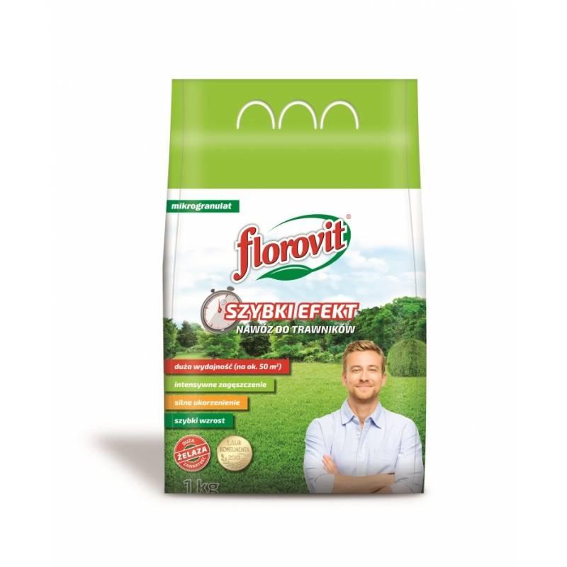 Florovit 1kg Nawóz do trawników Szybki Efekt mikrogranulat z żelazem