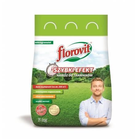 Florovit 5kg Nawóz do trawników Szybki Efekt mikrogranulat z żelazem