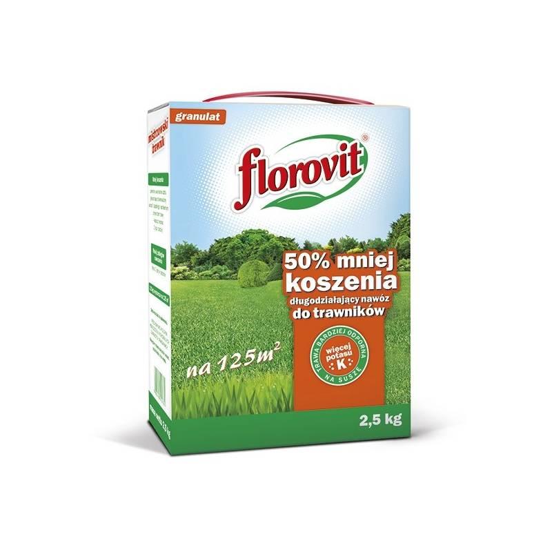 Florovit 2,5kg Długo działający nawóz do trawnika mniej koszenia