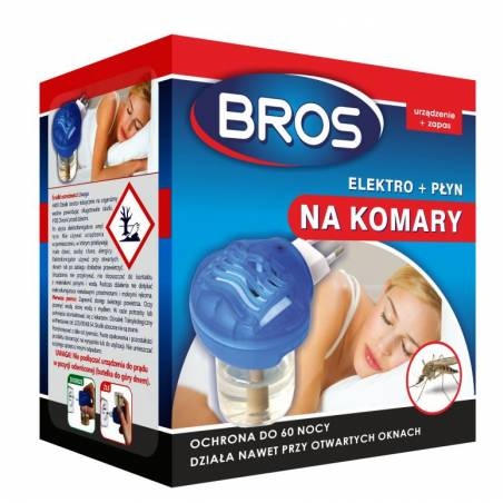 Bros 40ml Elektro + płyn na komary ochrona do 60 nocy