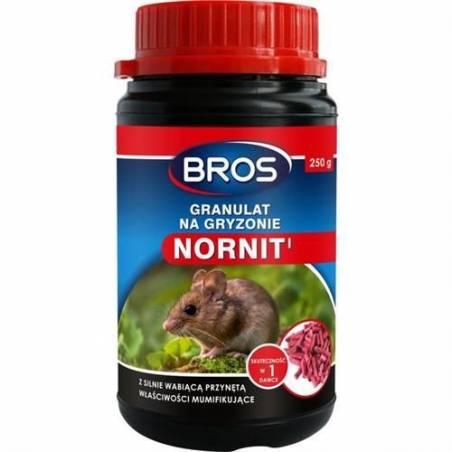 Bros 250g Granulat na gryzonie Nornit z silnie wabiącą przynętą