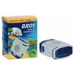 Bros Elektro turystyczny przenośny + wkład na komary + baterie działa 480 godzin