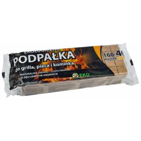 Ekodarpol 160 kostek +40 gratis Podpałka do grilla pieca kominka rozpałka ekologiczna w kostkach