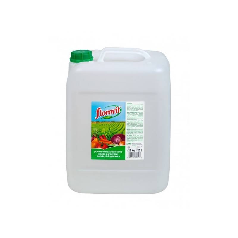 Florovit 22kg Płynny nawóz ogrodniczy uniwersalny dolistny i doglebowy