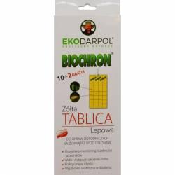 Ekodarpol 10szt.+2szt. gratis Biochron Żółta tablica lepowa do monitorowania szkodników ekolep
