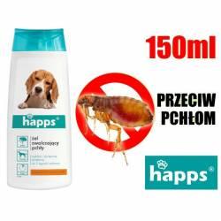 Happs 150ml Szampon przeciw pchłom dla psów czysta i błyszcząca sierść