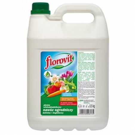 Florovit 5,5kg Płynny nawóz ogrodniczy uniwersalny dolistny i doglebowy