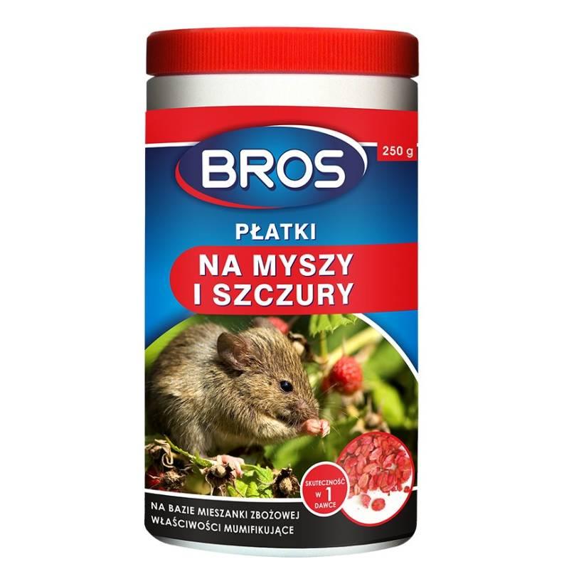 Bros 250g Płatki na myszy i szczury na bazie mieszanki zbożowej