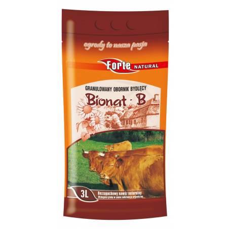 Forte 3l Bionat-B granulowany obornik bydlęcy naturalny nawóz organiczny