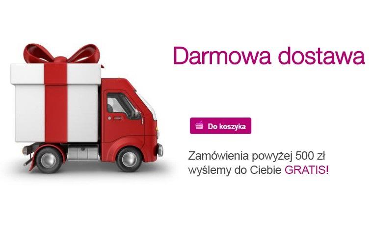 Darmowa dostawa od 500zł
