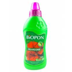 Biopon 0,5 l Nawóz do pelargonii długie i obfite kwitnienie pobudza odżywia wspomaga kwitnienie