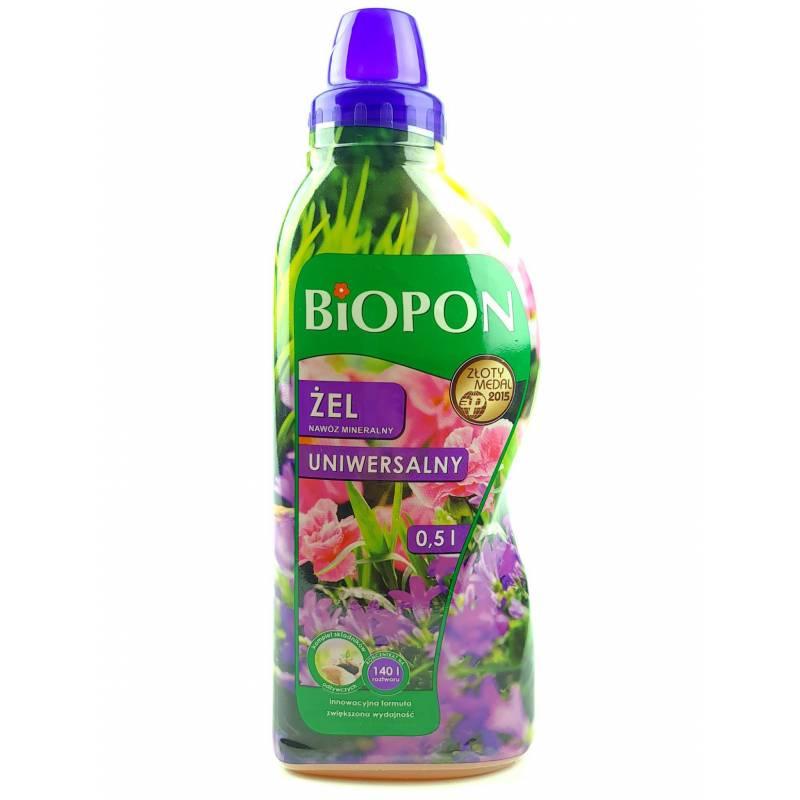 Biopon 0,5l Żel nawóz mineralny uniwersalny innowacyjna formuła wszystkie rośliny