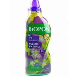 Biopon 0,5l Żel nawóz mineralny do roślin kwitnących innowacyjna formuła