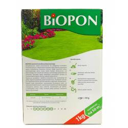 Biopon 1 kg Nawóz do trawnika zachwaszczonego pozbawiona chwastów murawa