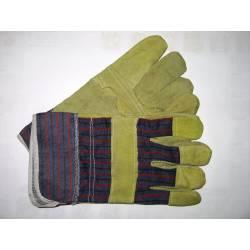 Rękawice robocze ciężkie solidne BHP rozmiar 10