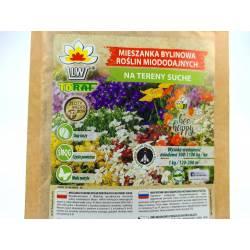 Toraf 100g Mieszanka na tereny suche Rośliny Miododajne Duże opakowanie Nasiona kwiatów wieloletnich jednorocznych Byliny
