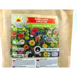 Toraf 500g Mieszanka Kwiatów Express Łączka Nasiona kwiatów jednorocznych Szybki wzrost kwitnienie