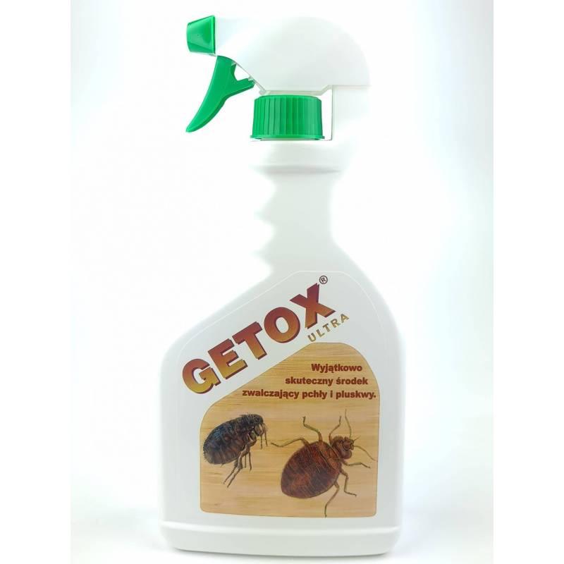 Getox Ultra 600ml Płyn na pluskwy pchły prusaki wyjątkowo skuteczny oprysk Getoks