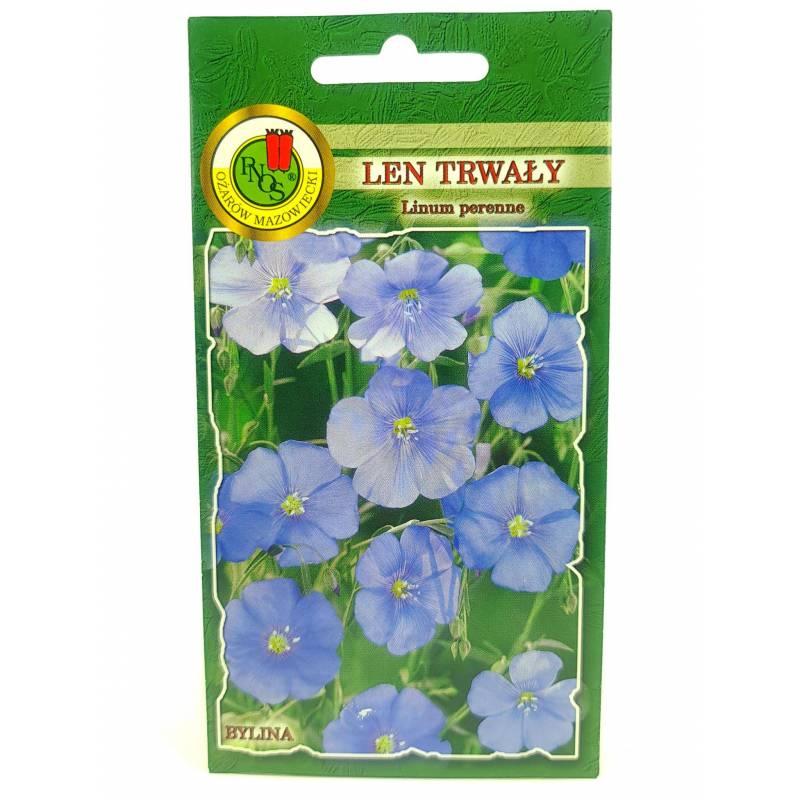 PNOS 1g Len Trwały Niebieski Nasiona kwiatów Bylina Drobne kwiatostany Rabaty bylinowe