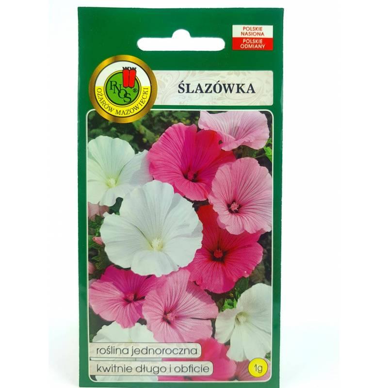 PNOS 1g Ślazówka Mieszana Nasiona kwiatów Roślina jednoroczna Duże kwiaty Rabatki Kwiat cięty