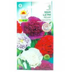 Toraf 0,5g Mak Letni Pełny Mix Nasiona kwiatów ogrodowych mieszanka kolorów
