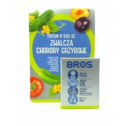 Bros Topsin M 500 SC 6ml Środek grzybobójczy Rośliny ozdobne jadalne Mączniak plamistość liści