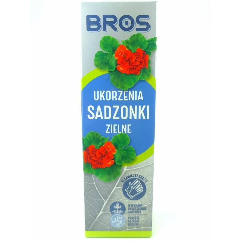 Bros 50 g Ukorzeniacz Sadzonki zielne + GRATIS Rękawice Młode pędy Pelargonie Ukorzenianie