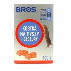 Bros 100g Kostka do zwalczania myszy i szczurów właściwości mumifikujące