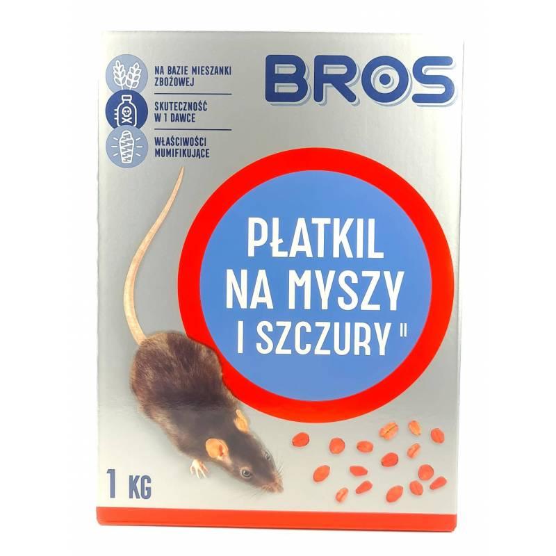 Bros 1kg Płatkil na myszy szczury Mieszanka zbożowa Zasusza Skuteczny