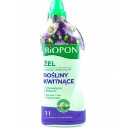 Biopon 1 l Żel nawóz mineralny do roślin kwitnących innowacyjna formulacja dłuższe kwitnienie