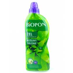 Biopon 1 l Żel nawóz mineralny do roślin zielonych zdrowe liście łodygi intensywna zieleń