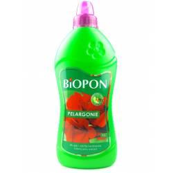 Biopon 1 l Nawóz mineralny do pelargonii muszkatli zwiększa kwitnienie odżywia części zielone