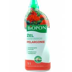 Biopon 1 l Żel nawóz mineralny do pelargonii skondensowana formuła piękne kwiaty