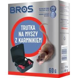 Bros 60g Karmnik z trutką stacja na myszy higieniczne wyłożenie deratyzacja
