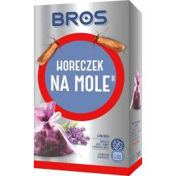 Bros Woreczek na mole odzieżowe lawenda Ładnie pachnie Zwalcza larwy jaja dorosłe osobniki