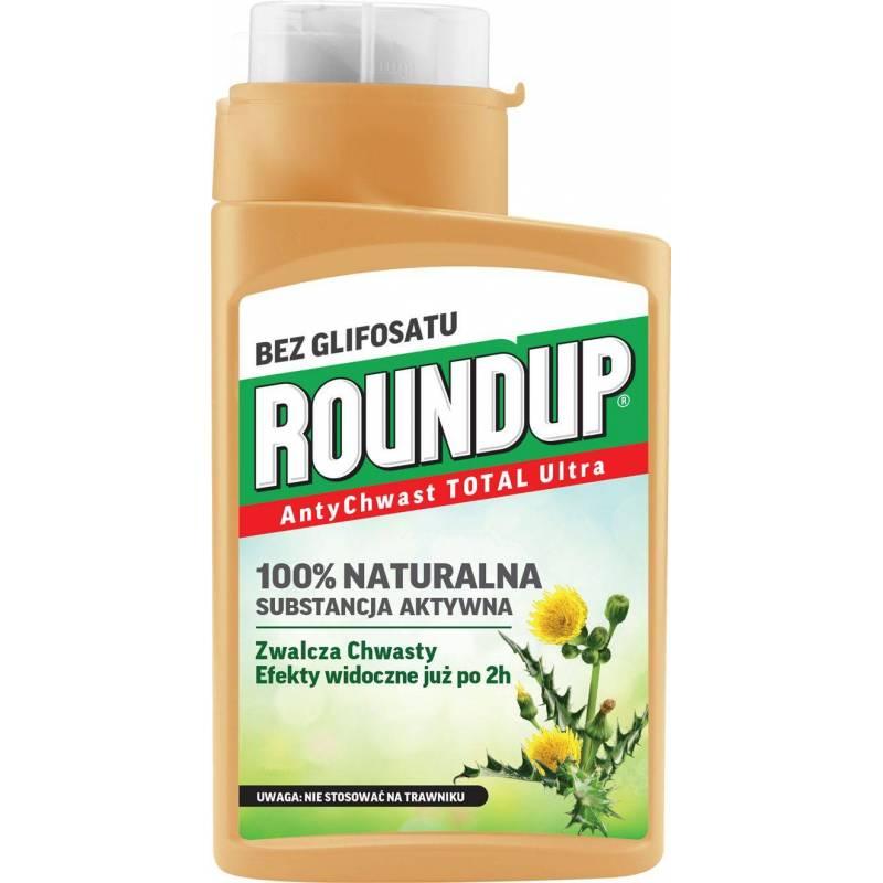 Roundup 140ml AntyChwast Total Ultra Preparat chwastobójczy herbicyd naturalny bez glifosatu kwas pelargonowy