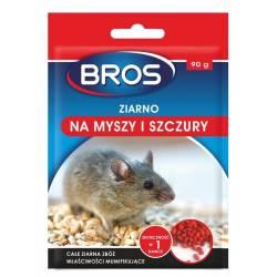 Bros 90g Ziarno na myszy i szczury całe ziarna zbóż zasuszające atrakcyjny pokarm