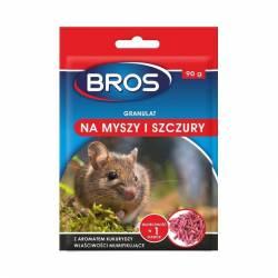 Bros 90g Granulat na myszy i szczury na bazie zbóż działa mumifikująco