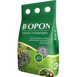 Biopon 3 kg Nawóz uniwersalny do roślin zielonych i kwitnących odpowiedni dla wszystkich roślin