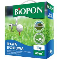 Biopon 1 kg Trawa sportowa dywanowa na murawy tereny użytkowane intensywnie