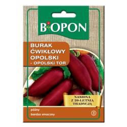 Biopon 15g Burak Ćwikłowy Opolski Nasiona warzyw Odmiana cylindryczna Przetwórstwo Przechowywanie