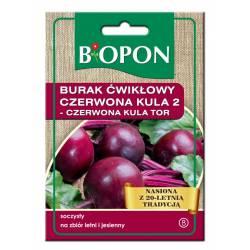 Biopon 15g Burak Ćwikłowy Czerwona Kula 2 Nasiona warzyw Bardzo plenna odmiana Przechowywanie