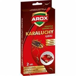 Arox 2szt. Lepowa pułapka na karaluchy inne owady biegające z tabletką